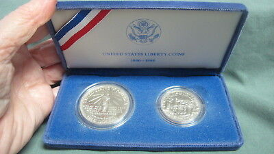 1886 1986 United States Liberty Proof Coins Silver Dollar With Velvet Box