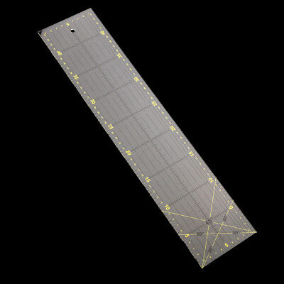 10x46cm Clear Plastic Quilt Quilting Ruler Patchwork Sewing Ruler for Craft