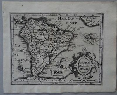America Guyana Tierra del Fuego copper map Mercator Hondius 1609 - Atlas Minor