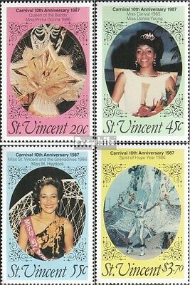 St. Vincent 1030-1033 (complete.issue.) unmounted mint / never hinged 1987 Carni