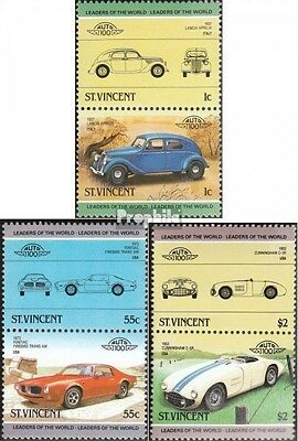 St. Vincent 798-803 Couples unmounted mint / never hinged 1985 Cars