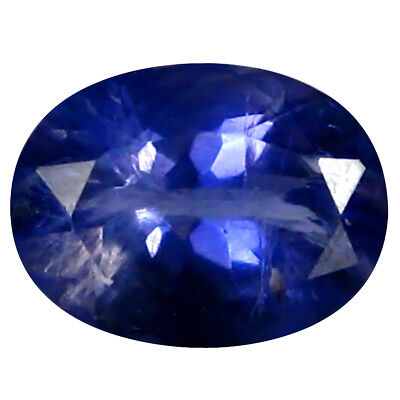 0.85 ct AAA Charming Oval Shape (7 x 6 mm) Iolite Natural Loose Gemstone