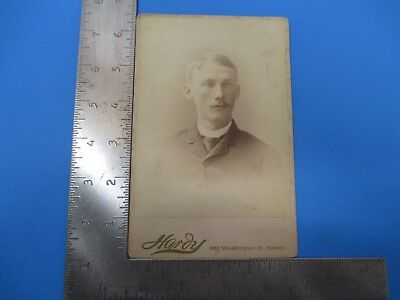 Antique Cabinet Photograph of Young man by Hardy Boston Massachusetts S6925
