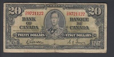 1937  $20 Dollars - Gordon Towers - Prefix C/E - Bank of Canada - E306