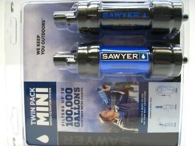 Sawyer SP2105 Blue Black Mini Water Filter Filtration Twin 2 Pack