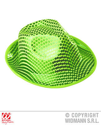 SQUARE SEQUINS FEDORA Hat for 70s 80s Pop Disco Fancy Dress Accessory -  £5.16  f294134ebe3d