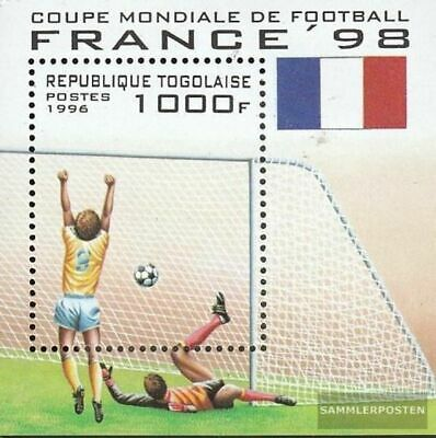 Togo block392 unmounted mint / never hinged 1996 Football-WM ´98, France