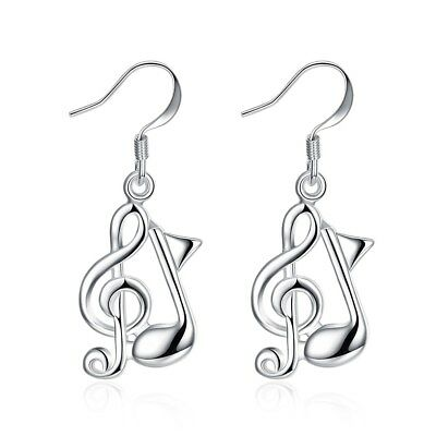 925Sterling Silver Fashion Jewelry Accessories Musical Note Women Earrings E961