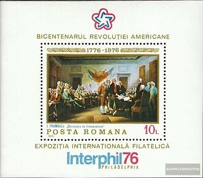 Romania block130 (complete issue) unmounted mint / never hinged 1976 Independenc