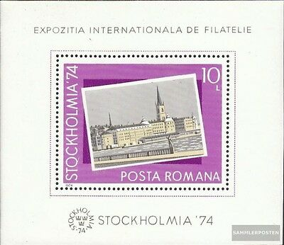 Romania block 116 (complete issue) unmounted mint / never hinged 1974 Stamp Exhi