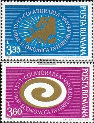 Romania 3120-3121 mint never hinged mnh 1973 INTEREUROPA