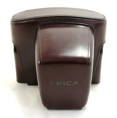 Leica brown leather ERC long nose ever ready case Leica R3 14507 MINT- #29618