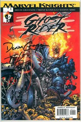 GHOST RIDER HAMMER LANE #1 DF DYNAMIC FORCES SIGNED x2 COA MARVEL MOVIE