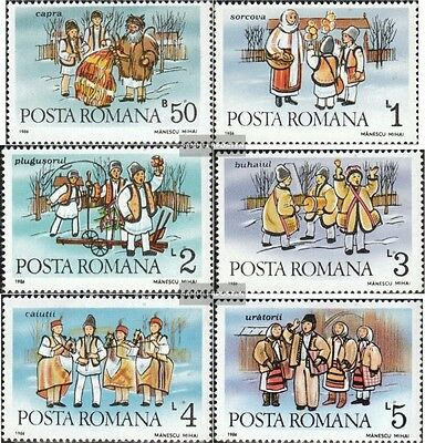 Romania 4312-4317 (complete issue) unmounted mint / never hinged 1986 Neujahrsbr