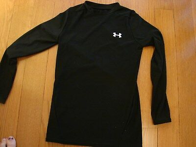 f07dcc86168c Under Armour Boys Youth Large Long Sleeved Black Heat Gear Athletic Shirt 1  of 2FREE Shipping ...