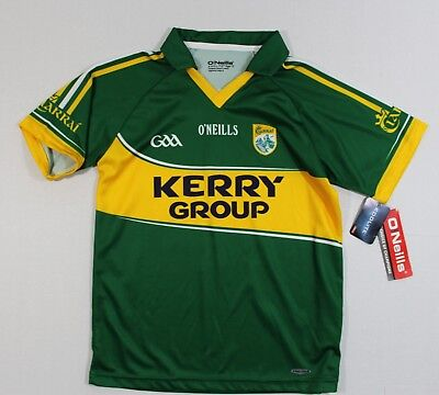 Nwt O'neills Age 13 Kid'S Kerry Home Jersey S/s Shirt Koolite Made In Ireland
