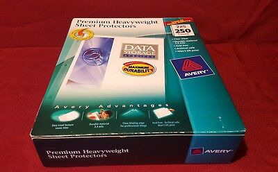 Avery Sheet Protector Clear Top Load #76006 Acid Free 250 count  New box