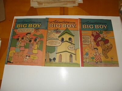 Adventures of the Big Boy #116 120 132 1966-68 Giveaway Comics Used Shoney's VG