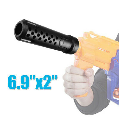 Tactical Silencer Barrel Extension Attachment For Nerf MOD Modify Airsoft Toy