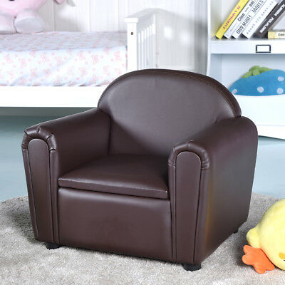Kids Sofa Children Armrest Chair With Storage Box Living Room