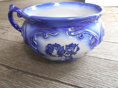 C 1900 Ironstone Staffordshire England chamber pot potty marks Queen Victoria