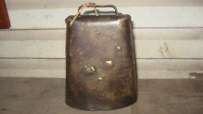 Vintage  Large Cow Bell Stamped  R&e Mfg Co. Ny.
