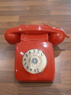 Nice Vintage Red telephone for spares / repair