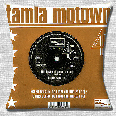 Tamla Motown Funda de Cojín Northern Soul 40.6cm 40cm Frank Wilson Do i Love You
