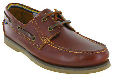 Mens Leather Boat Shoes Catesby Brown Lace Up Summer Lightweight Walking UK 6-12