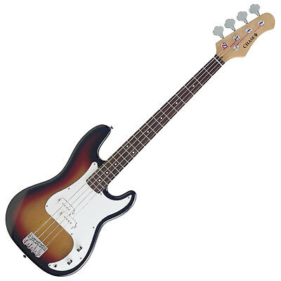 RRP £249 Now £149 - Chase Precision Electric Bass Guitar P-Style Sunburst P300SB
