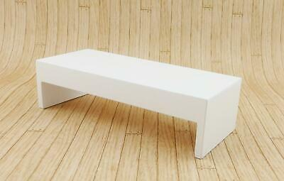 Melody Jane Dolls House Modern White Coffee Table Contemporary 1:12 Furniture