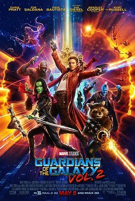 Guardians of the Galaxy 2 - original DS movie poster D/S 27x40 - FINAL