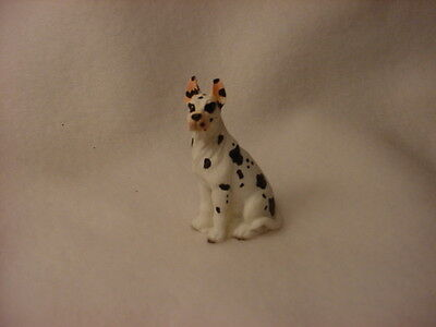 GREAT DANE Harlequin puppy TiNY Dog FIGURINE resin MINIATURE Mini COLLECTIBLE
