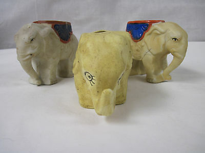 Vintage circus Elephant Planters made of ceramic and hand painted