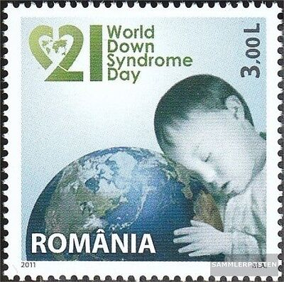 Romania 6505 (complete.issue.) unmounted mint / never hinged 2011 world Down syn