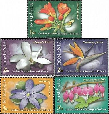 Romania 6452-6456 (complete.issue.) unmounted mint / never hinged 2010 Botanical