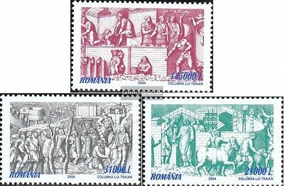 Romania 5882-5884 (complete.issue.) unmounted mint / never hinged 2004 relief ba