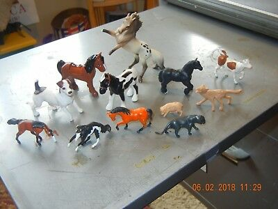 Play Plastic Dogs Horses fox from Toy Box collection lot