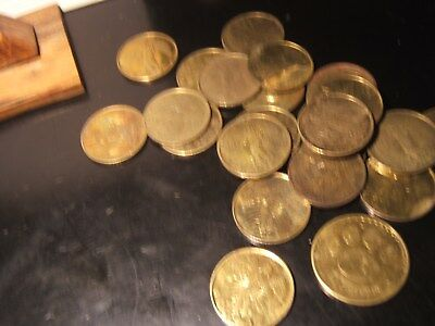 Lot of 24 Religious Guardian Angel Pocket Token Coin Medal Lot  FREE SHIPPING