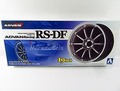 Aoshima 1/24 Scale Advan Racing RS-DF 19 Inch Wheel and Tire Set #146 US Seller