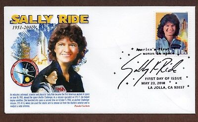 2018 Sally Ride ~ Panda Cachet - First Day Cover Ist Woman From Usa In Space