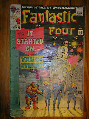 FANTASTIC FOUR # 29 RED GHOST LEE KIRBY 12c 1964 SILVER AGE MARVEL COMIC BOOK