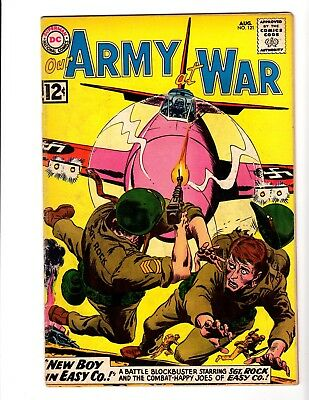 OUR ARMY AT WAR #121 VG+ (1962) (Kubert)