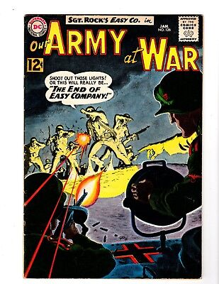 OUR ARMY AT WAR #126 FINE (1963) (1st. app. Canary; Grey Tone Cover)