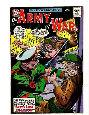 OUR ARMY AT WAR #138 FINE (1964) (1st Sparrow)