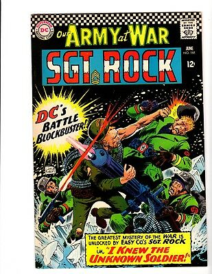 OUR ARMY AT WAR #168 VF/NM (1966) (1st. Unknown Soldier app)