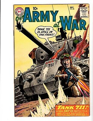 OUR ARMY AT WAR #86 VF+ (1959)  (Early Sgt. Rock; Kubert Art