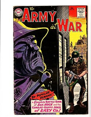 OUR ARMY AT WAR #91 GD/VG  (1960) (All Sgt. Rock Issue) (Kubert Art)