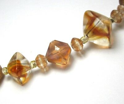 13 Beautiful Mixed Swirled/Foil/Faceted Vintage/Antique Glass Beads