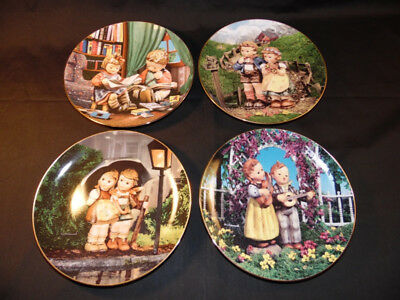 Set Of 4 Beautiful 8 Inch M.j. Hummel Limited Edition Collector's Plates